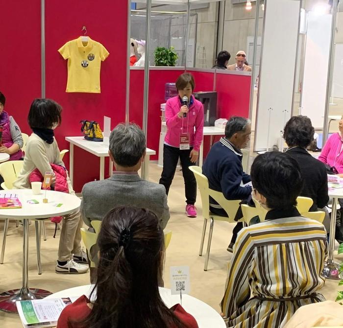 ジャパンゴルフフェア女性専用ランジゴルフピラティスレッスン